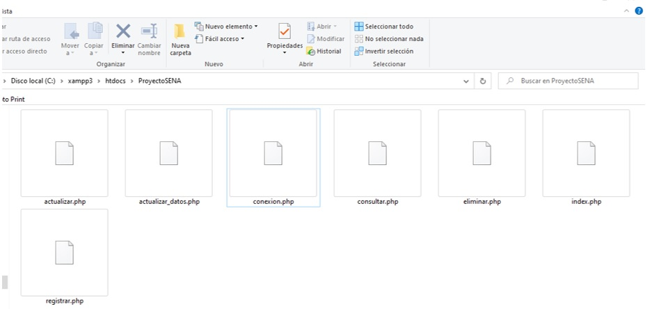 Archivos php del proyecto