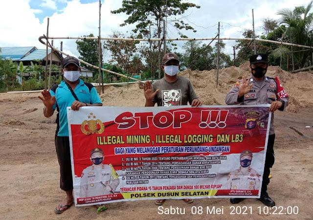 Cegah Penambangan dan Pembalakkan Illegal , Bripka Fahrujianor Laksanakan Sosialisasi
