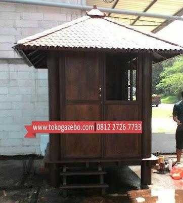 Gazebo Kayu Glugu Kotak