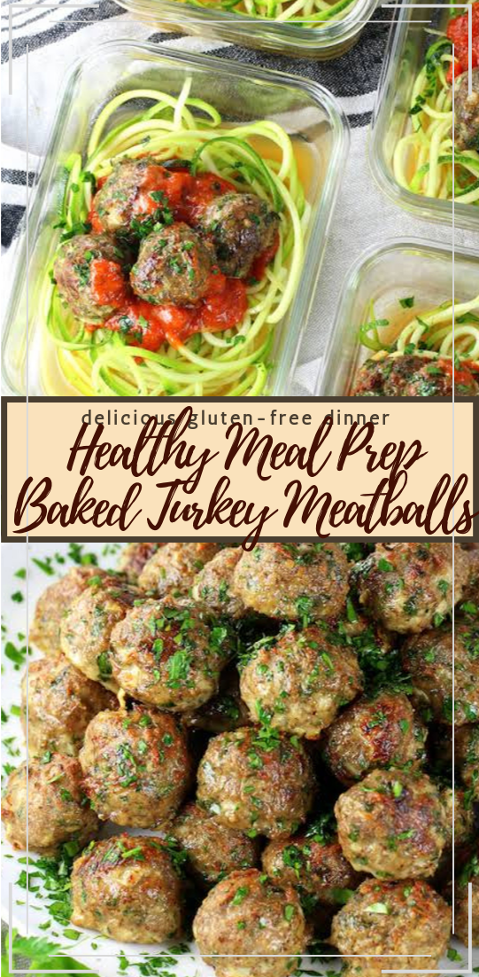 Healthy Meal Prep Baked Turkey Meatballs #healthyfood #dietketo #breakfast #food