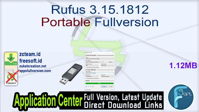 Rufus 3.15.1812 Portable Fullversion