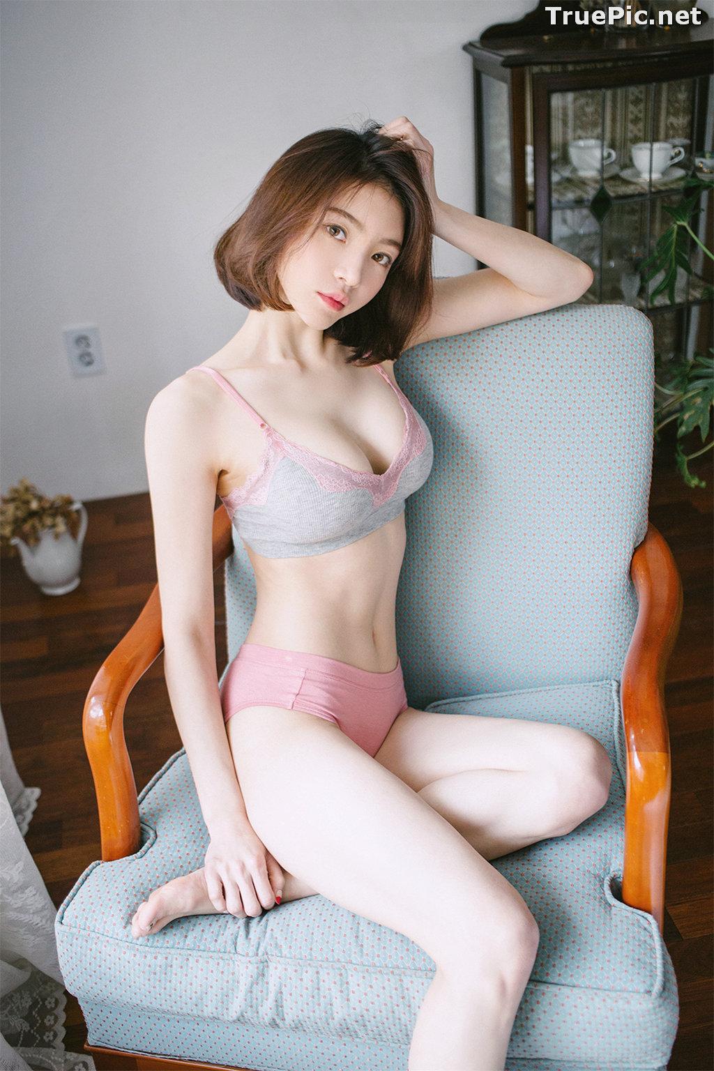 Image Korean Fashion Model - Lee Ho Sin - Laralette Gray Lingerie - TruePic.net - Picture-6