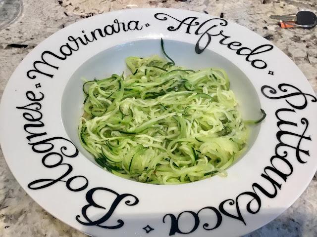 zucchini spiral pasta
