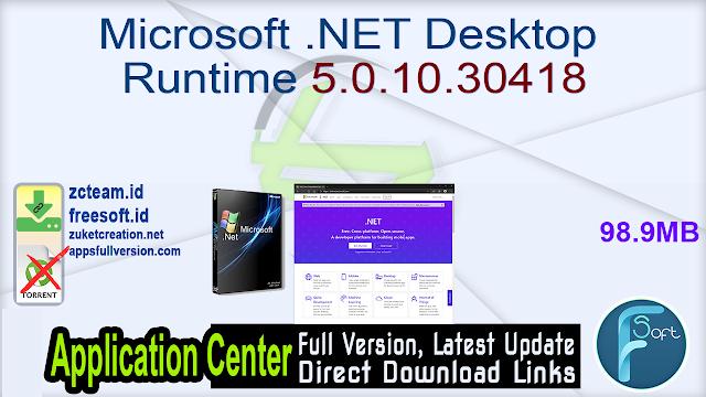 Microsoft .NET Desktop Runtime 5.0.10.30418