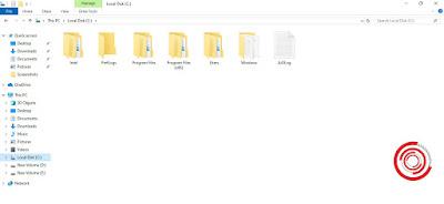 Silakan kalian buka File Explorer terlebih dahulu