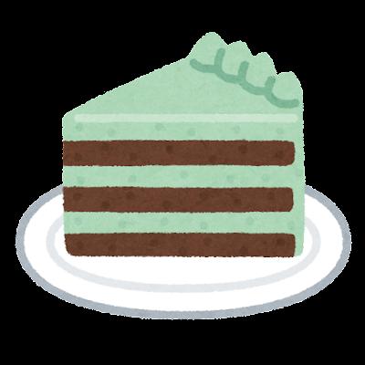 チョコミントケーキのイラスト