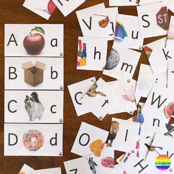 Alphabet 2-Part Puzzle | you clever monkey