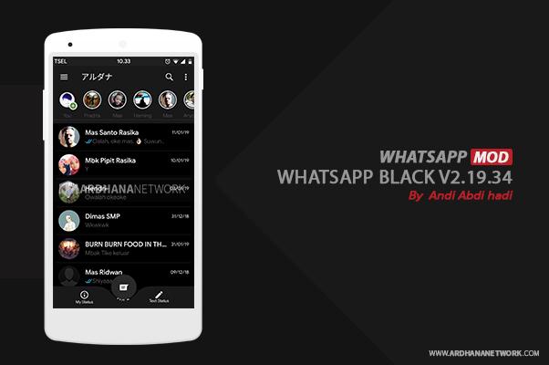 Whatsapp Black V2.19.34