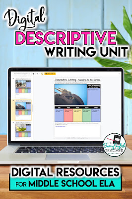 Digital Descriptive Writing Unit for Middle School ELA