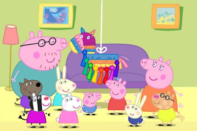 Peppa pig en su fiesta - imagenes para descargar