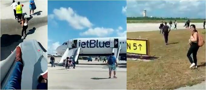 VIDEO: Dominicanos que viajaban en avión de Jet Blue a Orlando creyeron que iban a morir antes de aterrizaje forzoso en Bahamas