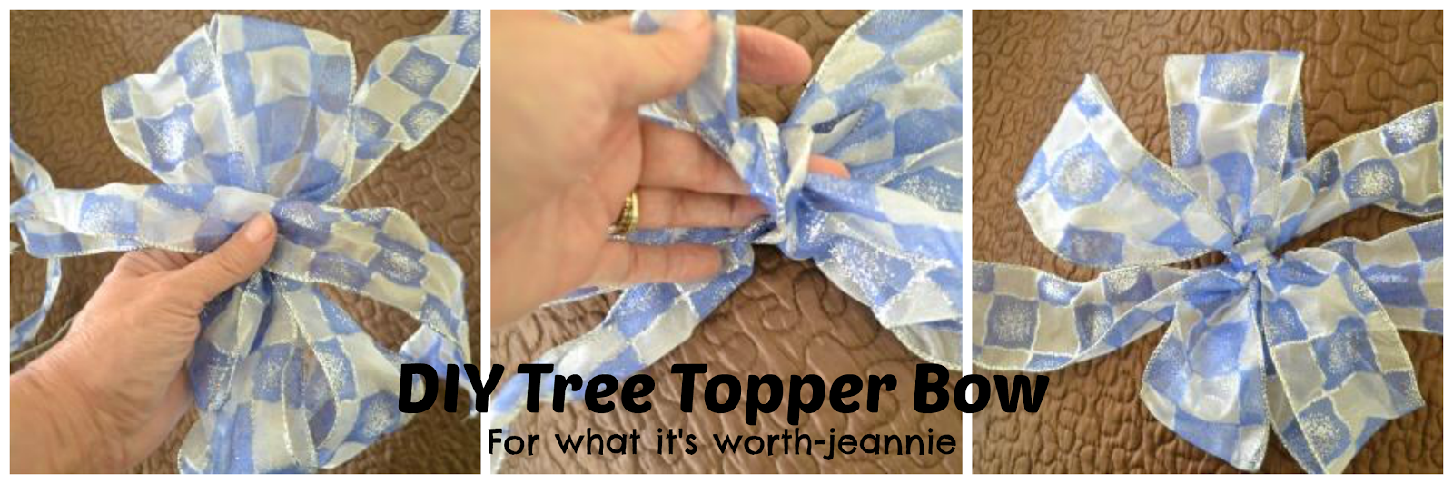 DIY bow tree topper