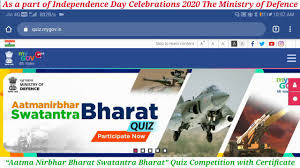 Aatmanirbhar Bharat - Swantantra Bharat Quiz to Create Patriotic Feeling Among Youth and Masses Know the Details Details to Participate /2020/07/Aatmanirbhar-Bharat-Swantantra-Bharat-Quiz-Know-the-Details-to-Participate.html