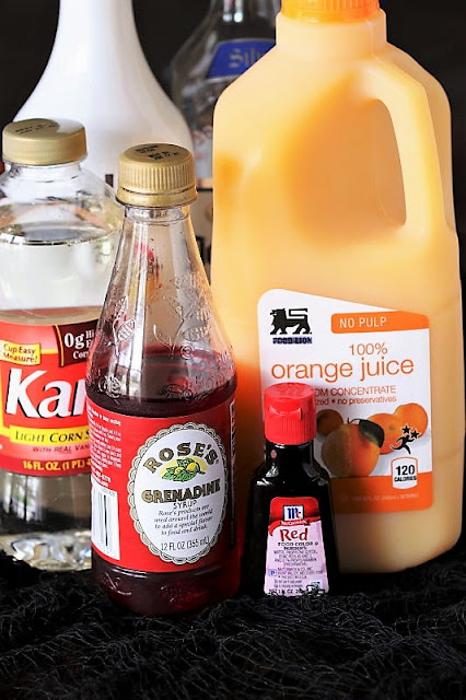 Bloody Sunrise Halloween Cocktail Ingredients Image