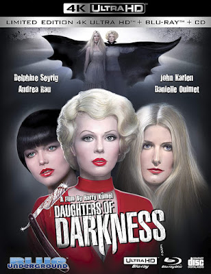 Cover art for Blue Underground's new Limited Edition DAUGHTERS OF DARKNESS 4K release!