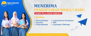 Desain Banner Spanduk Pendaftaran Siswa Baru 2021