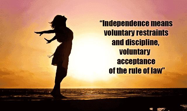 Quotes on discipline by Mahatma Gandhi