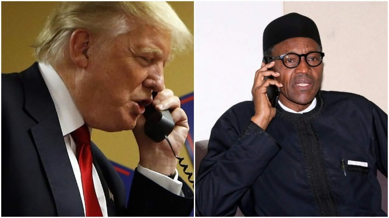 Buhari talks with Trump on phone