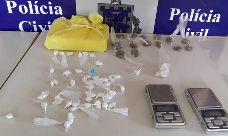 Homem é preso por tráfico de drogas na região da Chapada Diamantina