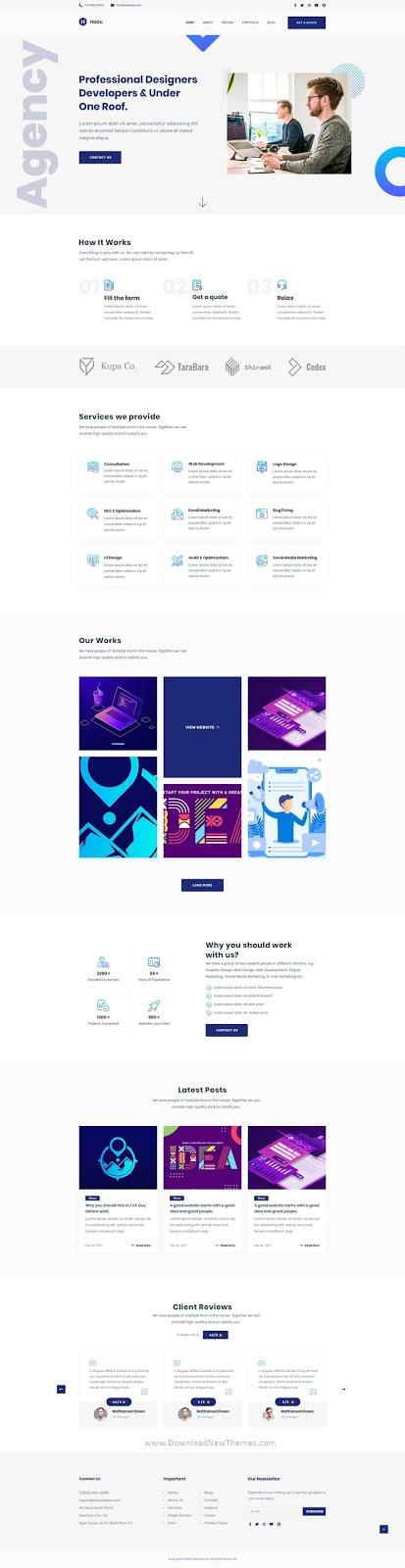 Agency Premium Adobe XD Template