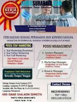 Lowongan Kerja Surabaya di Sinar Shaladin Semesta Juli 2020