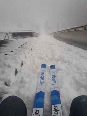 Launch platform Bergisel Olympic ski jump in Innsbruck