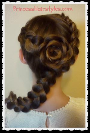 Sensational Hairstyles For Girls Princess Hairstyles Valentines Day Short Hairstyles Gunalazisus