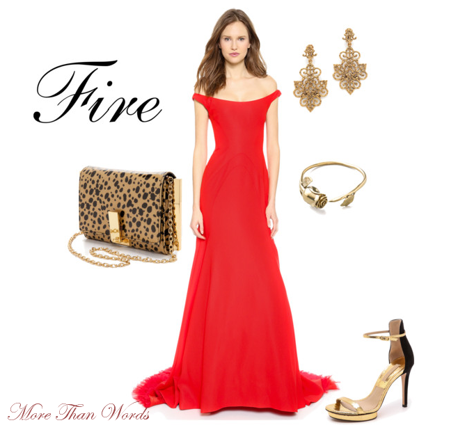 94ed9e9a9c33 This hot red Lela Rose off the shoulder gown that you can find at Shopbop  is perfect for the lady who is fierce