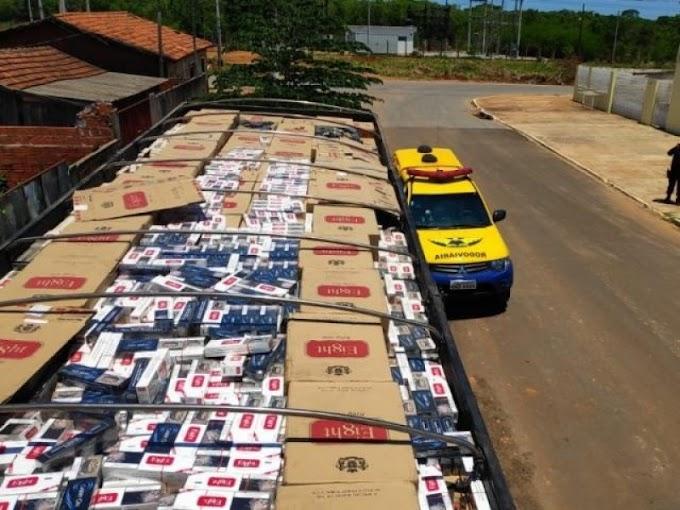 Morador de Itaquiraí é preso com carga de cigarros paraguaio avaliada em R$ 1 milhão