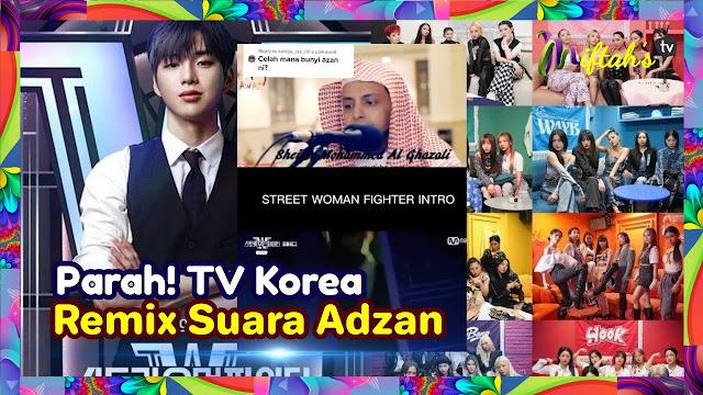 Heboh TV Korea Selatan Remix Suara Azan, Netizen Indonesia Murka