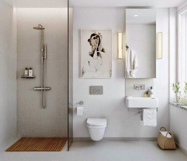 Muebles De Baño Estilo Minimalista:Elegir un cuadro minimalista para la pared también es buena idea para