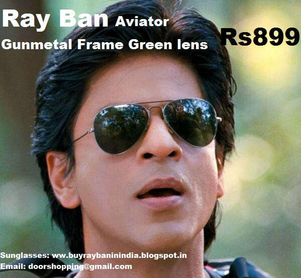 096f230cce Shahrukh khan wearing Gunmetal frame green lens Aviator in movie Chennai  Express throughout