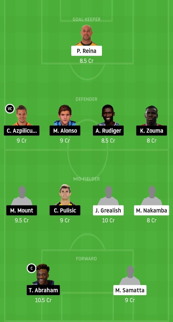 Premier League - Chelsea Vs Aston Villa Dream11 Prediction