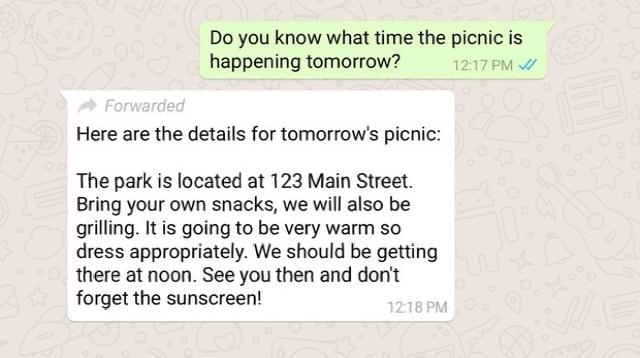 WhatsApp ya te avisa si han reenviado tu mensaje