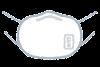 個人防護具のイラスト(男性・N95マスク)