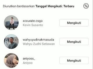 Melihat Orang Terakhir Anda Ikuti / Follow di Instagram