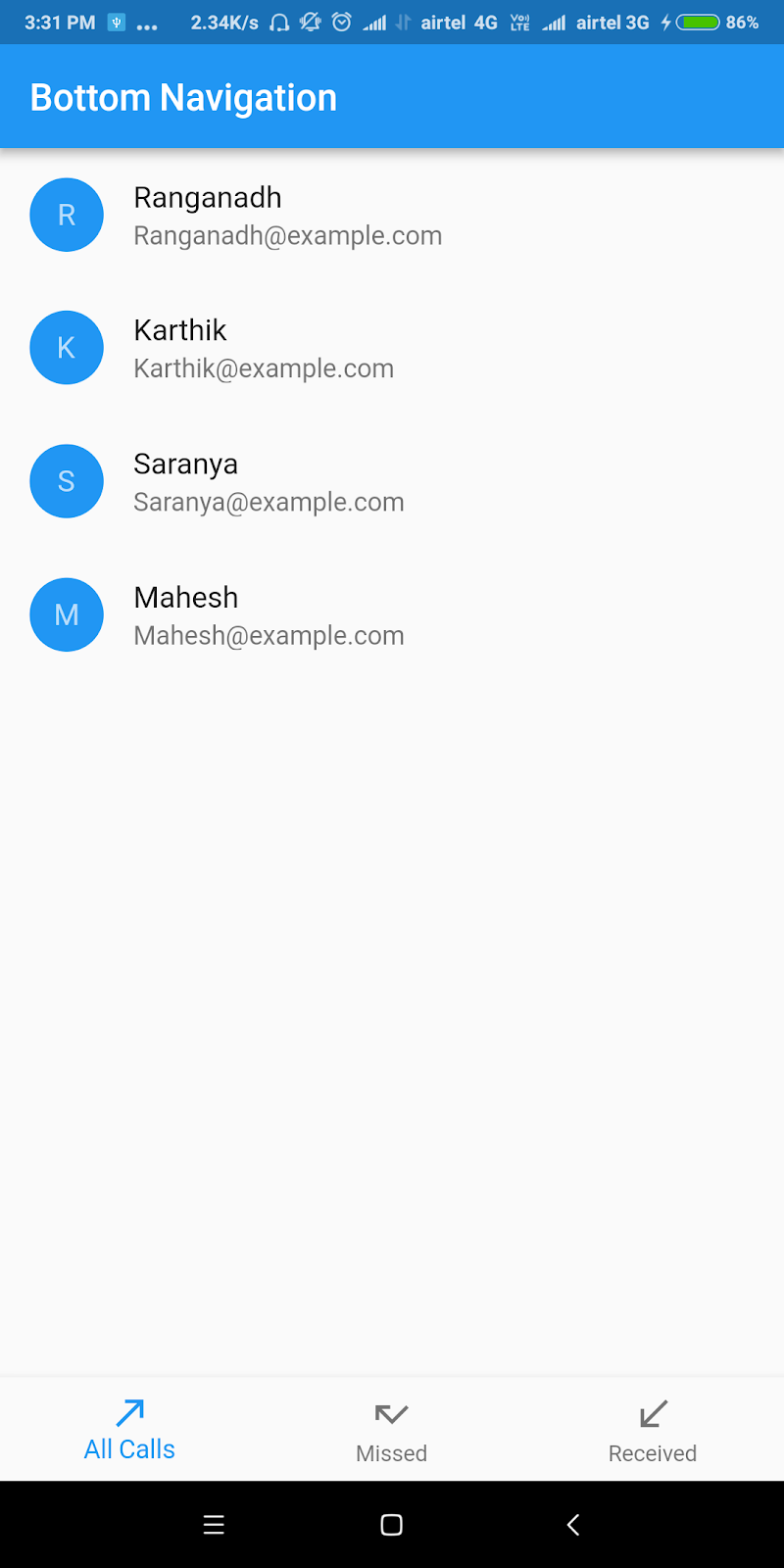 Flutter BottomNavigation Example | Android App Development