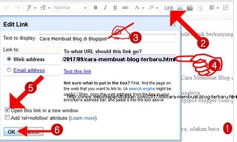 Cara membuat link di artikel blog agar dapat diklik
