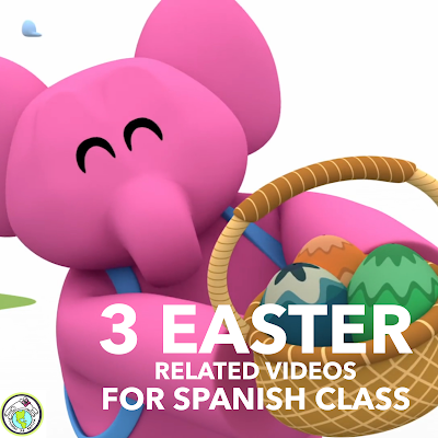 Three Easter Videos for Spanish Class Elementary Spanish for Kids