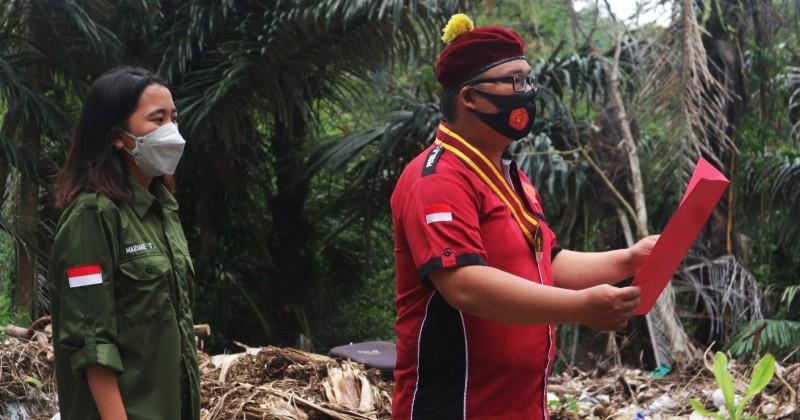 Laksanakan Upacara Bendera di TPA, Komda PMKRI Sulut: Wujudkan Persatuan Pemuda