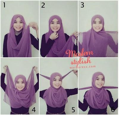 tutorial hijab pashmina anak muda