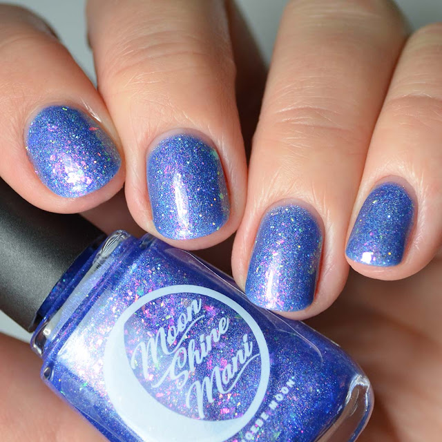 indigo flakie nail polish swatch