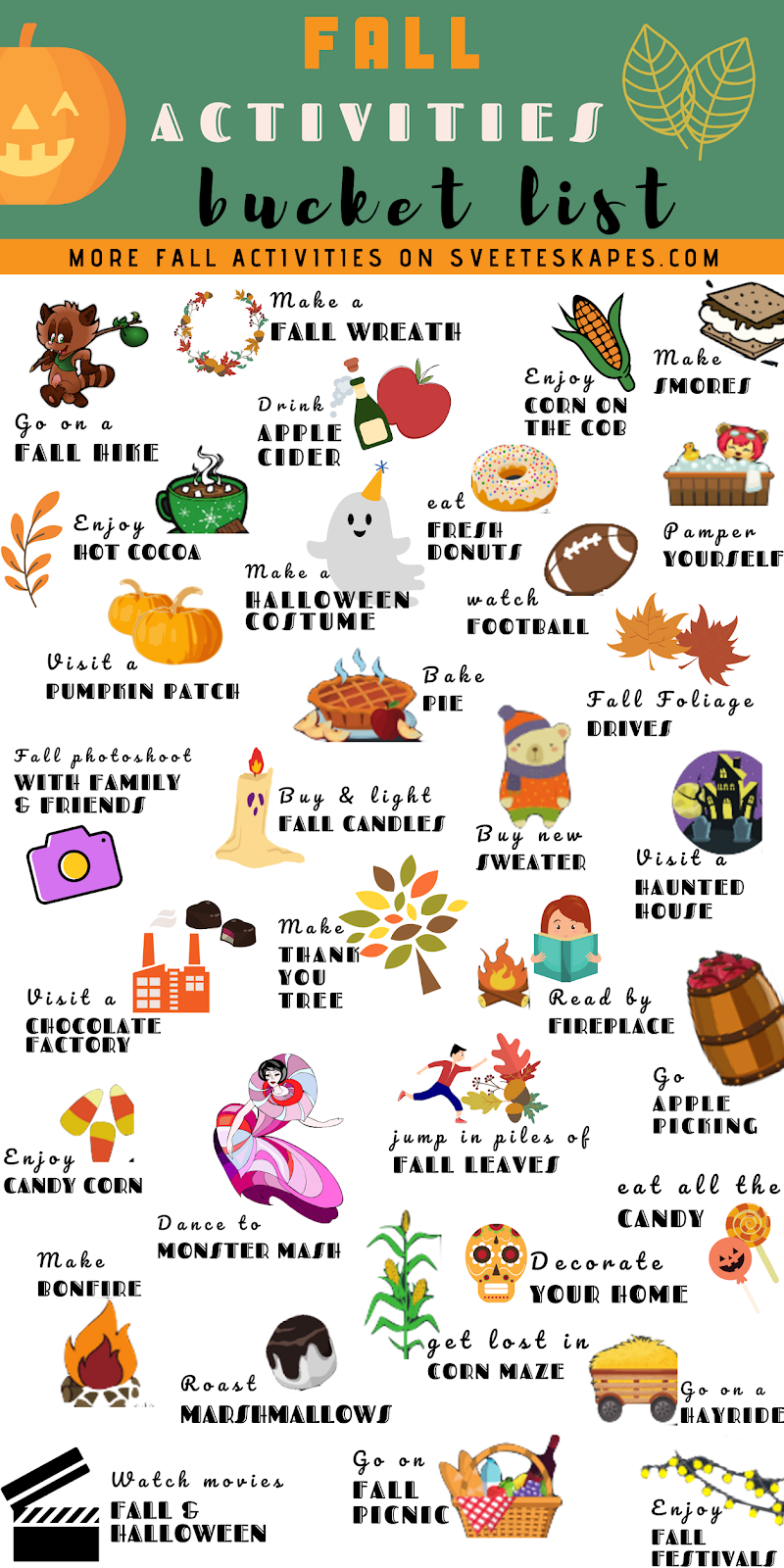 Fall Bucket List Activities featured by top US lifestyle blog, Sveeteskapes