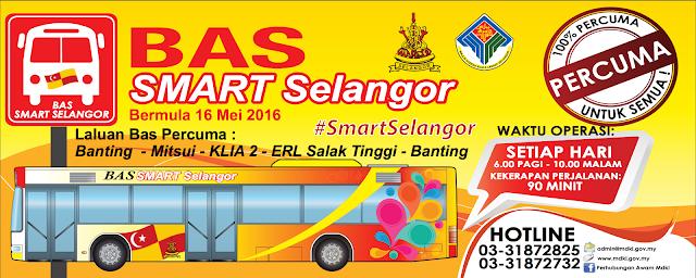 SMART Bus Selangorku Banting Mitsui KLIA2 ERL Salak Tinggi