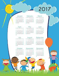 2017カレンダー無料テンプレート49