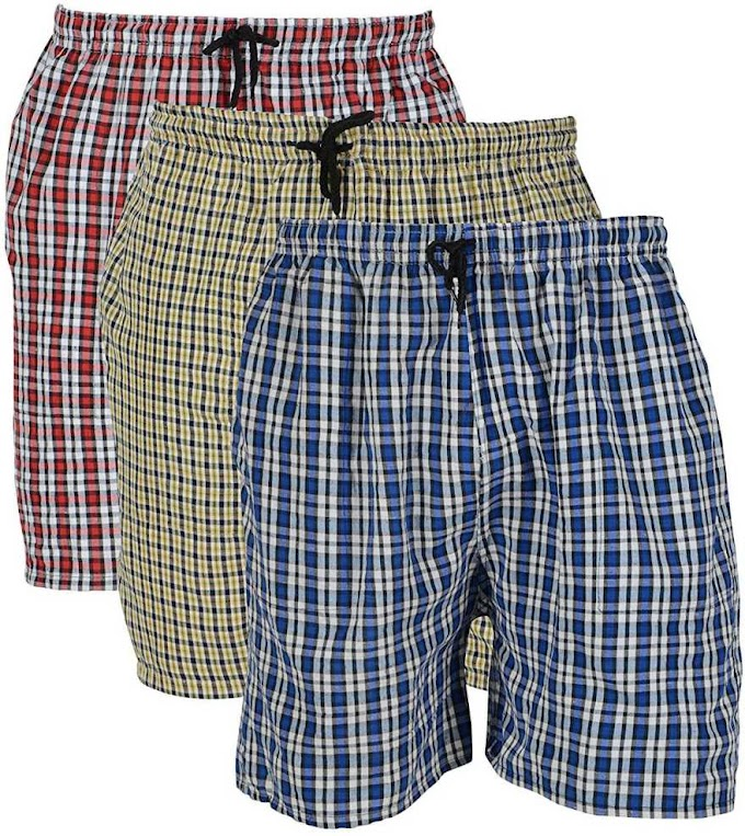 Rs,305/- Self Design Men Red, Blue, Yellow Regular Shorts