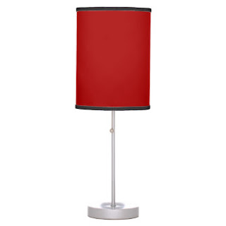 Red Christian home decor lamp