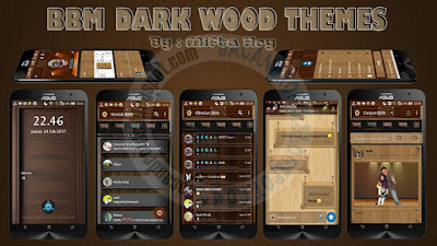 BBM MOD Dark Wood Style Theme v2.1.1 Base BBM v3.3.0.16