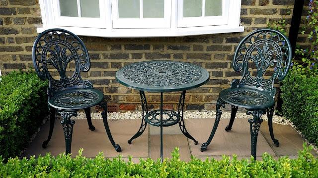 Terraza muebles clásicos