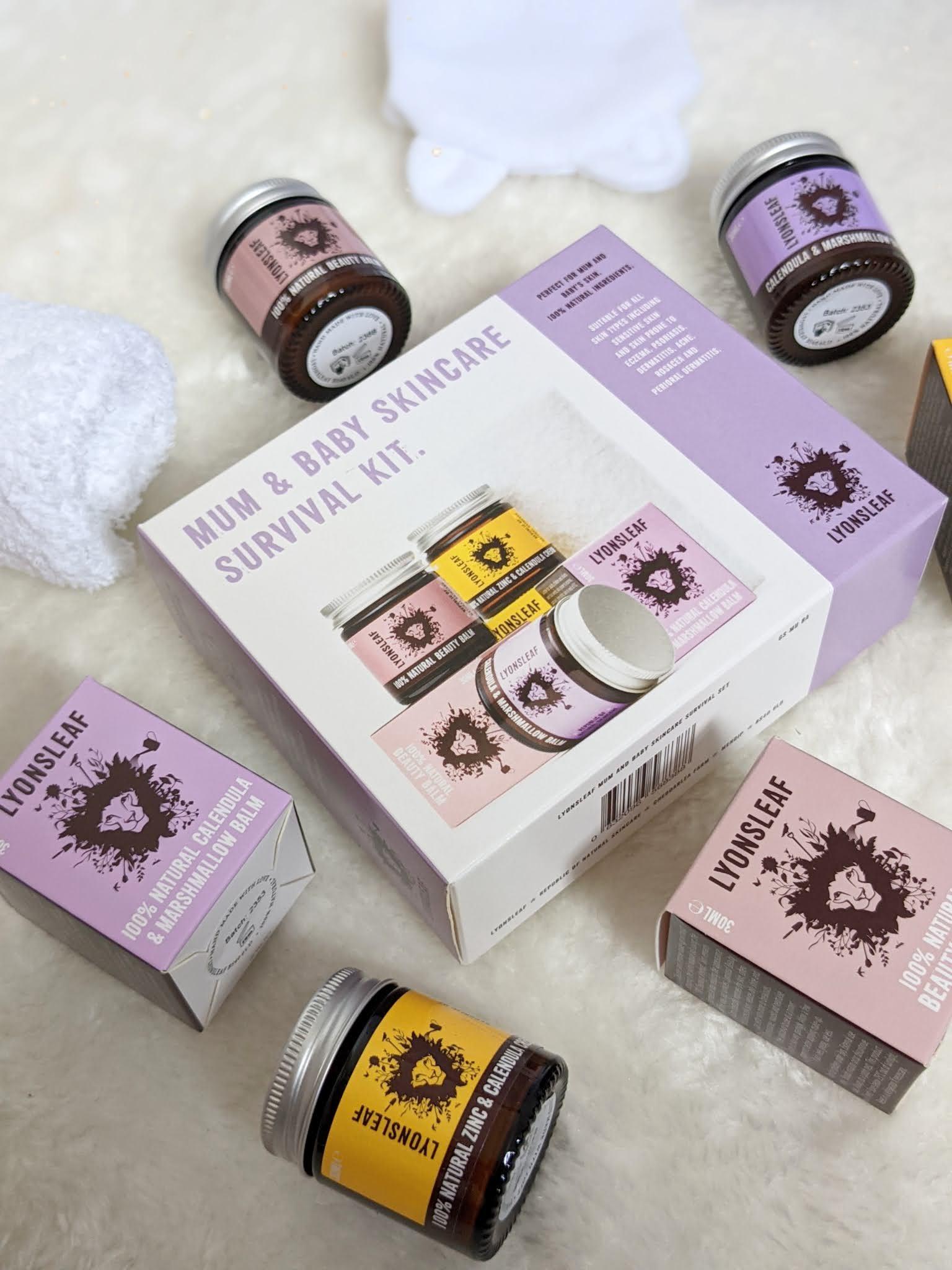 lyonsleaf mum and baby skincare survival kit littlepackofvegans doodleheart.co.uk